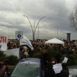 Piazza Vittoria durante la manifestazione