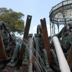 I pezzi della corolla della Cassa Armonica abbandonati nel cantiere Ansaldo