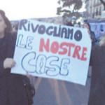 Sfollati della Torretta manifestano