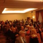 Il folto pubblico che all'Hotel Alabardieri ha presenziato alla conferenza stampa