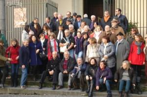 Foto di gruppo davanti alla Chiesa di Sant'Anna dei Lombardi