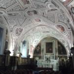 La spettacolare volta interamente affrescata dal  Vasari