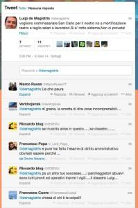 L'ennesimo tweet di de Magistris che provoca reazioni indignate