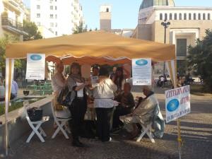 Il nostro gazebo a Piazza San Vitale