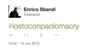 Enrico Sbandi io sto con paolomacry