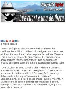 L'articolo del giornalista Carlo Tarallo