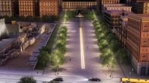 """Il rendering di Piazza Municipio come """"probabilmente"""" sarà"""