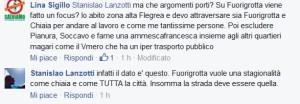L'intervento del consigliere Lanzotti circa il sondaggio sul lungomare, in risposta ad un'osservazione