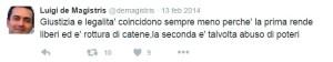 tweet dema_11 Giustizia e legalità