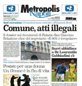 Metropolis, la prima pagina del 6.11.2016